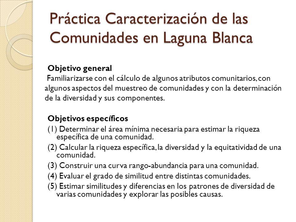 Práctica Caracterización de las Comunidades en Laguna Blanca