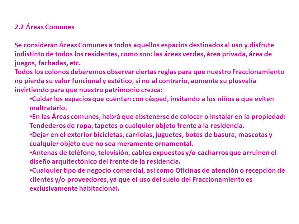 2.2 Áreas Comunes