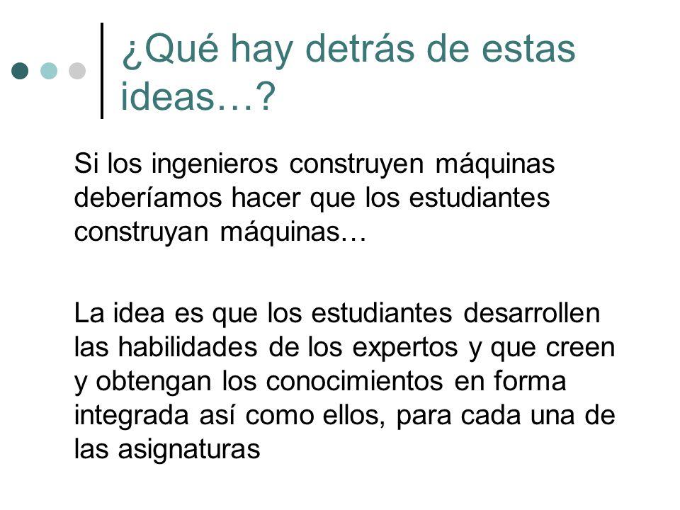 ¿Qué hay detrás de estas ideas…