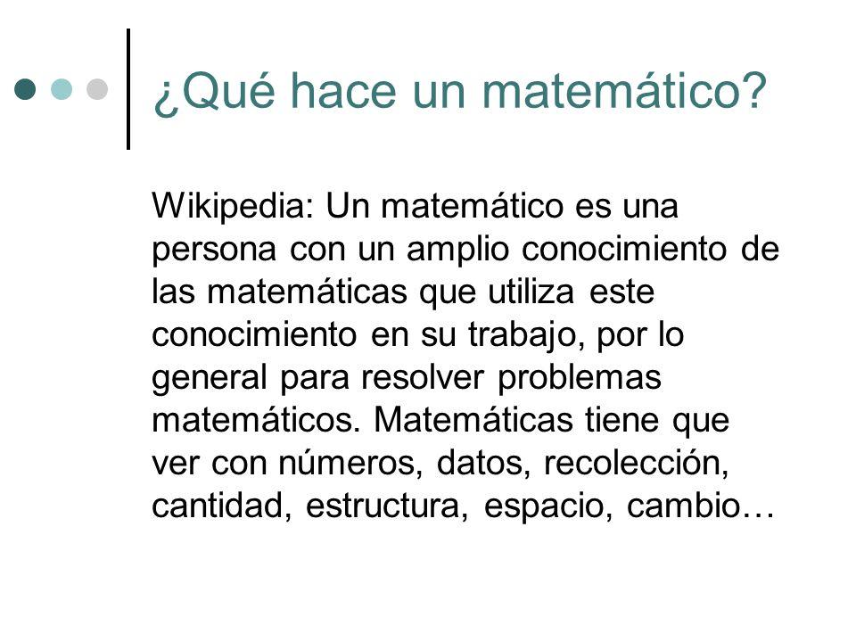 ¿Qué hace un matemático