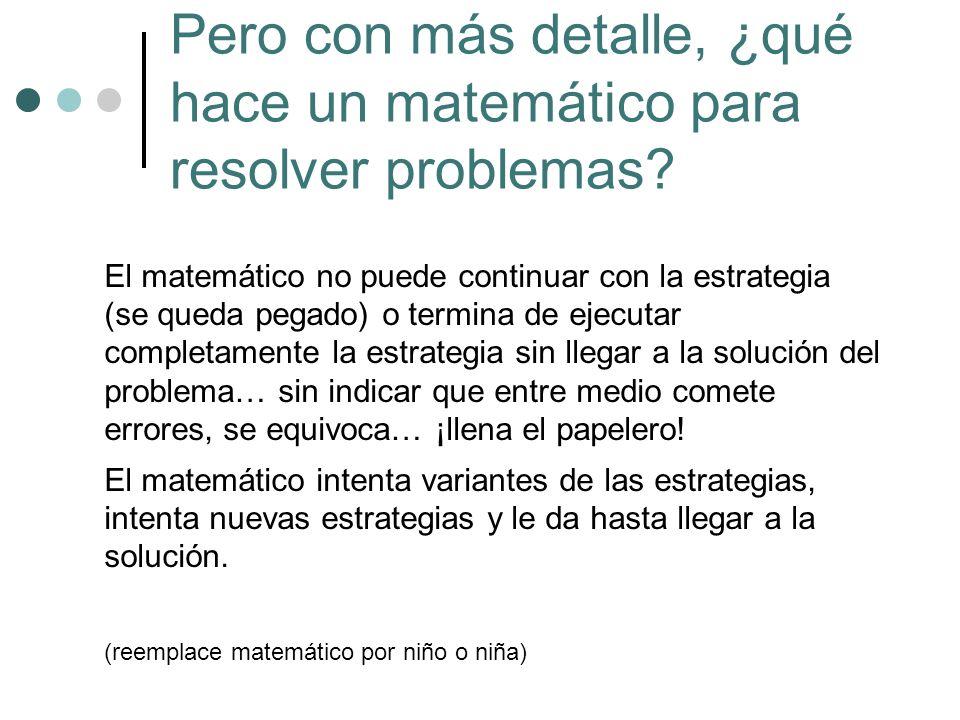 Pero con más detalle, ¿qué hace un matemático para resolver problemas
