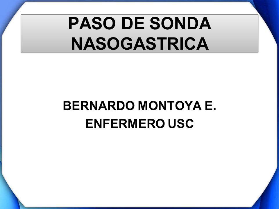 PASO DE SONDA NASOGASTRICA