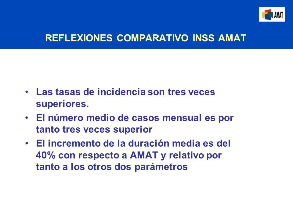 REFLEXIONES COMPARATIVO INSS AMAT