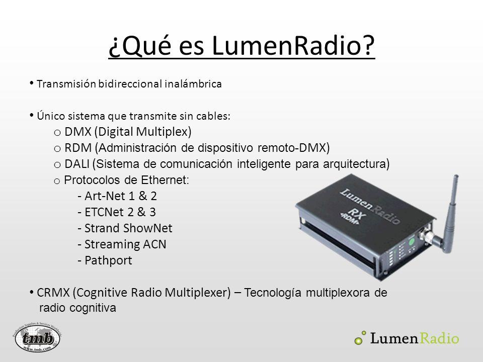 ¿Qué es LumenRadio Transmisión bidireccional inalámbrica