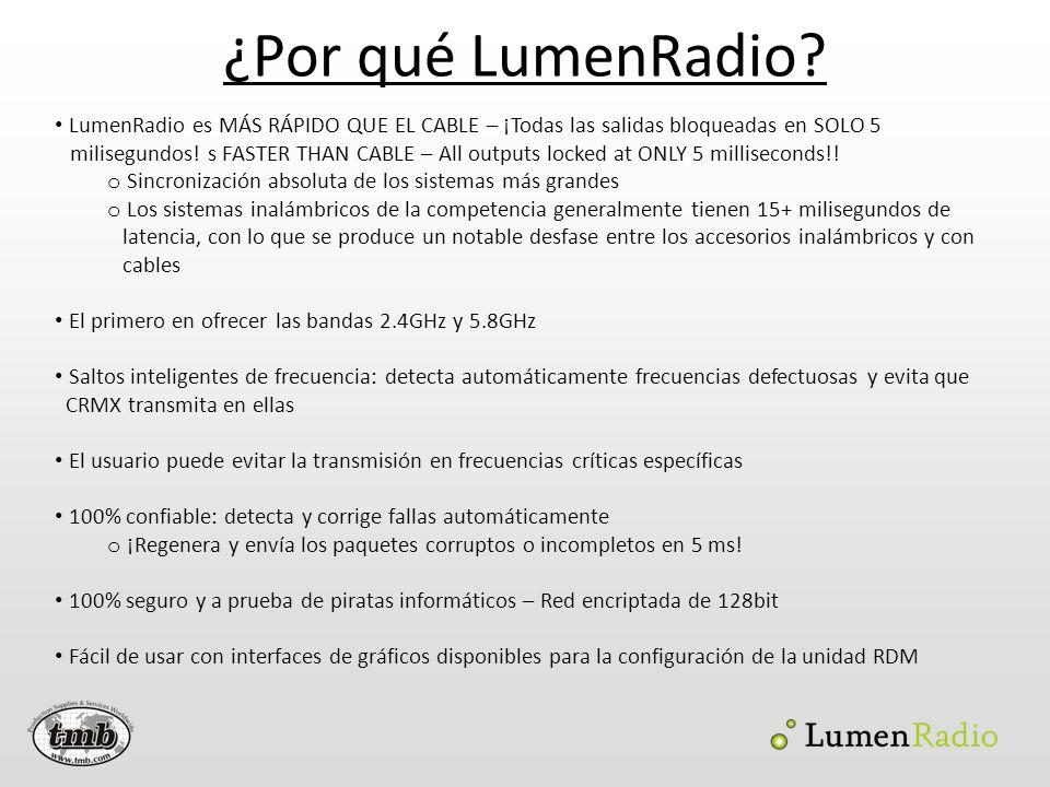¿Por qué LumenRadio LumenRadio es MÁS RÁPIDO QUE EL CABLE – ¡Todas las salidas bloqueadas en SOLO 5.