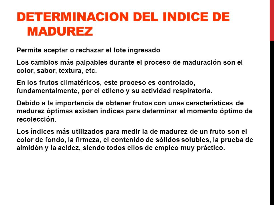 DETERMINACION DEL INDICE DE MADUREZ
