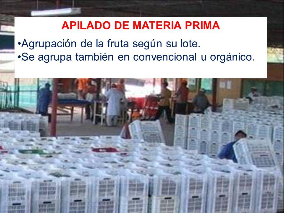 APILADO DE MATERIA PRIMA