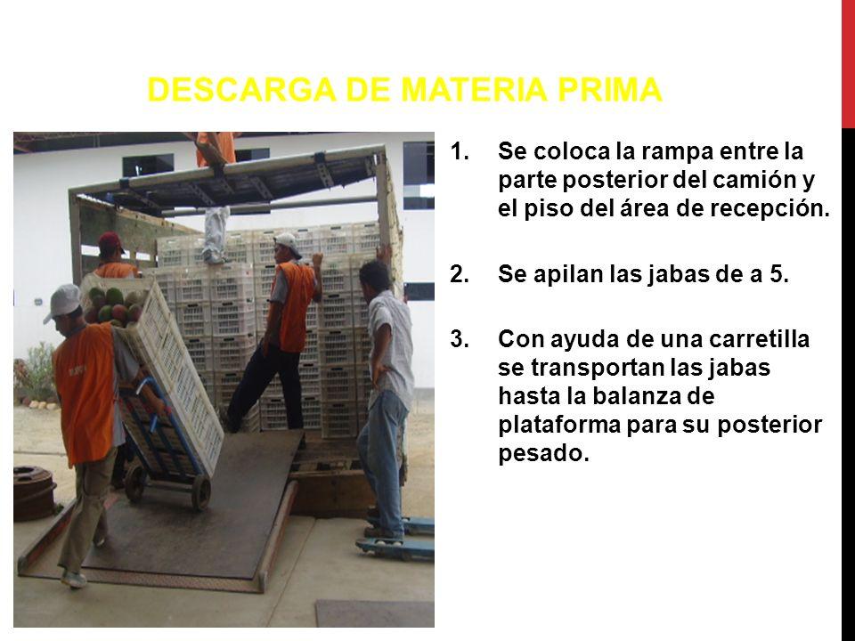 DESCARGA DE MATERIA PRIMA