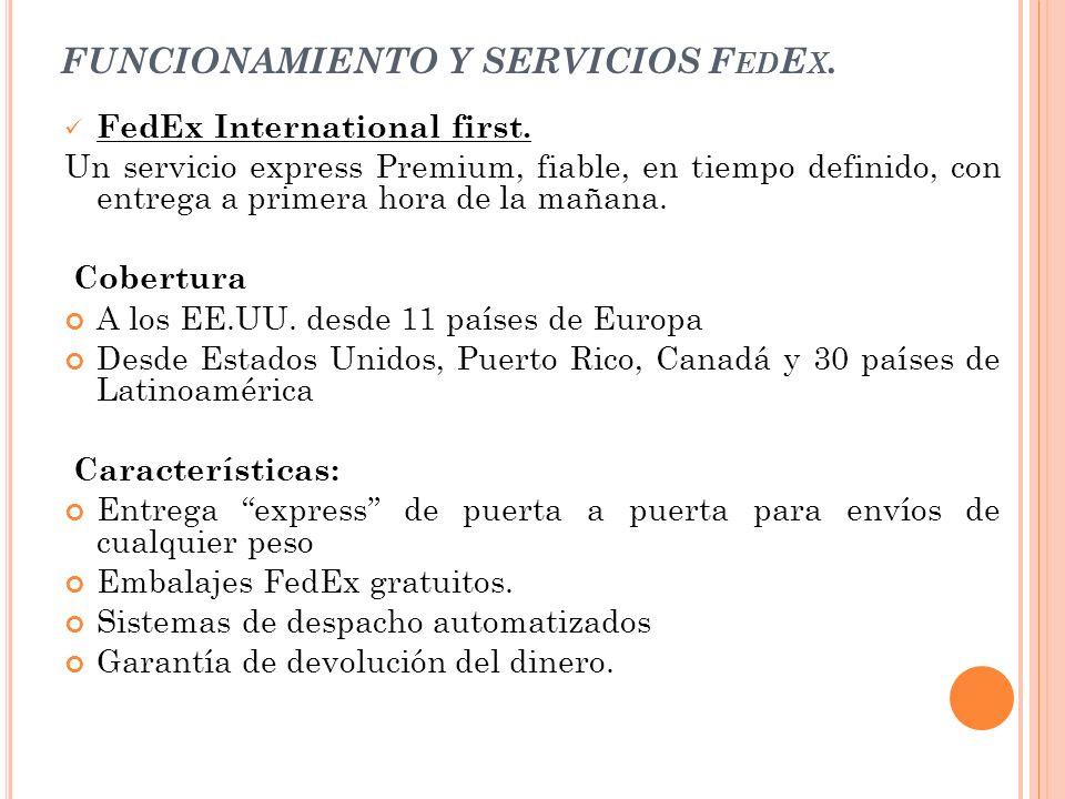 FUNCIONAMIENTO Y SERVICIOS FedEx.