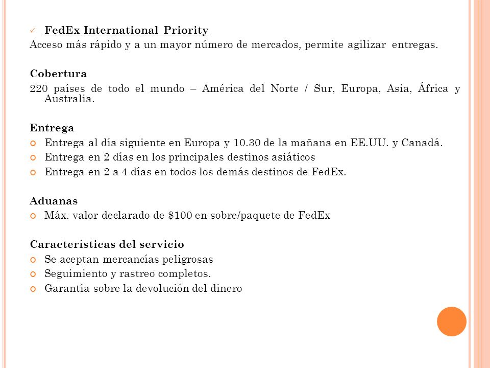 FedEx International Priority