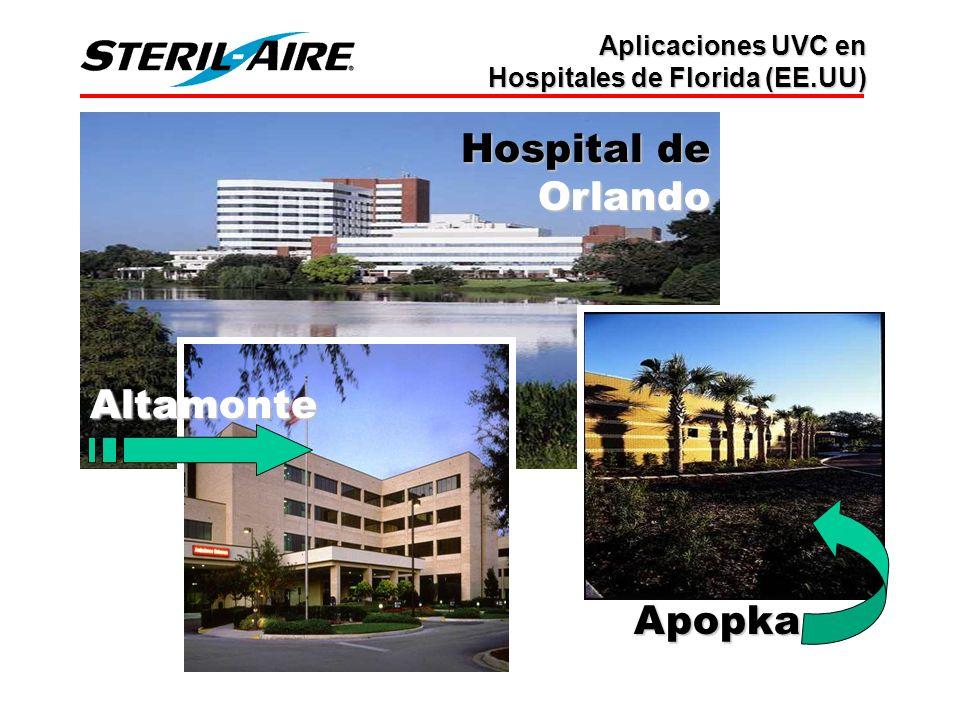 Hospital de Orlando Altamonte Apopka Aplicaciones UVC en