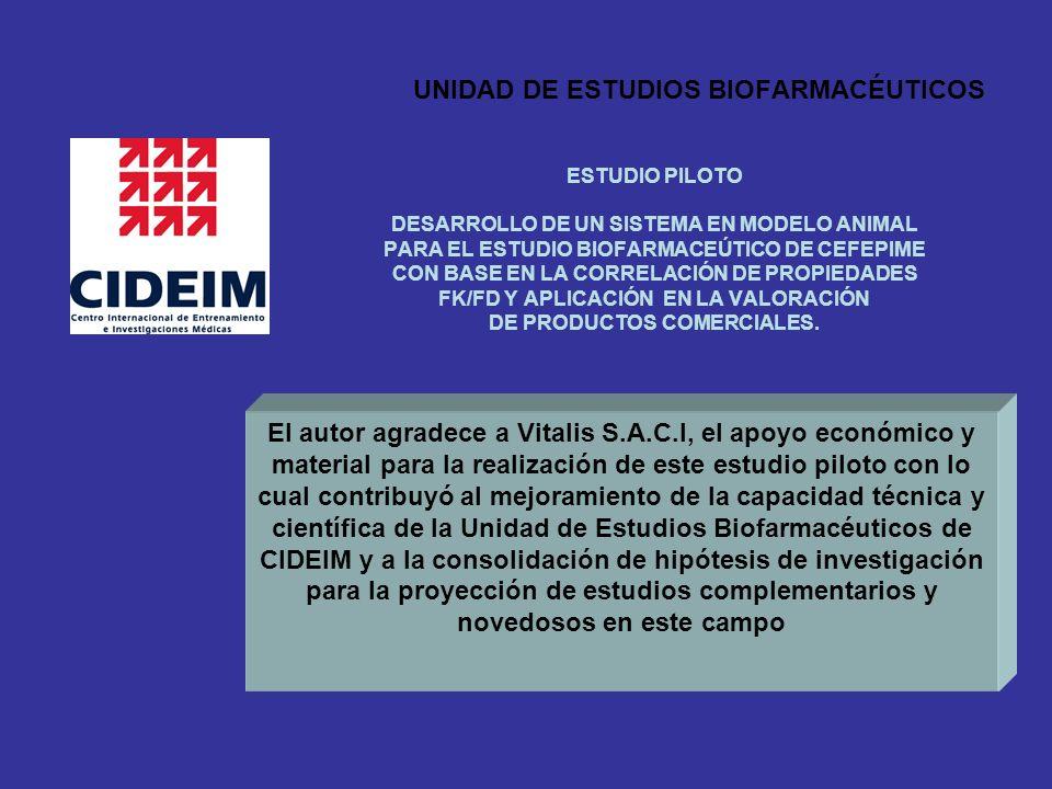 UNIDAD DE ESTUDIOS BIOFARMACÉUTICOS