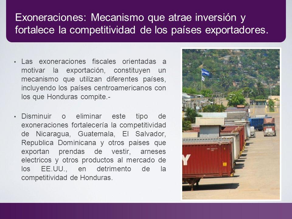 Exoneraciones: Mecanismo que atrae inversión y fortalece la competitividad de los países exportadores.