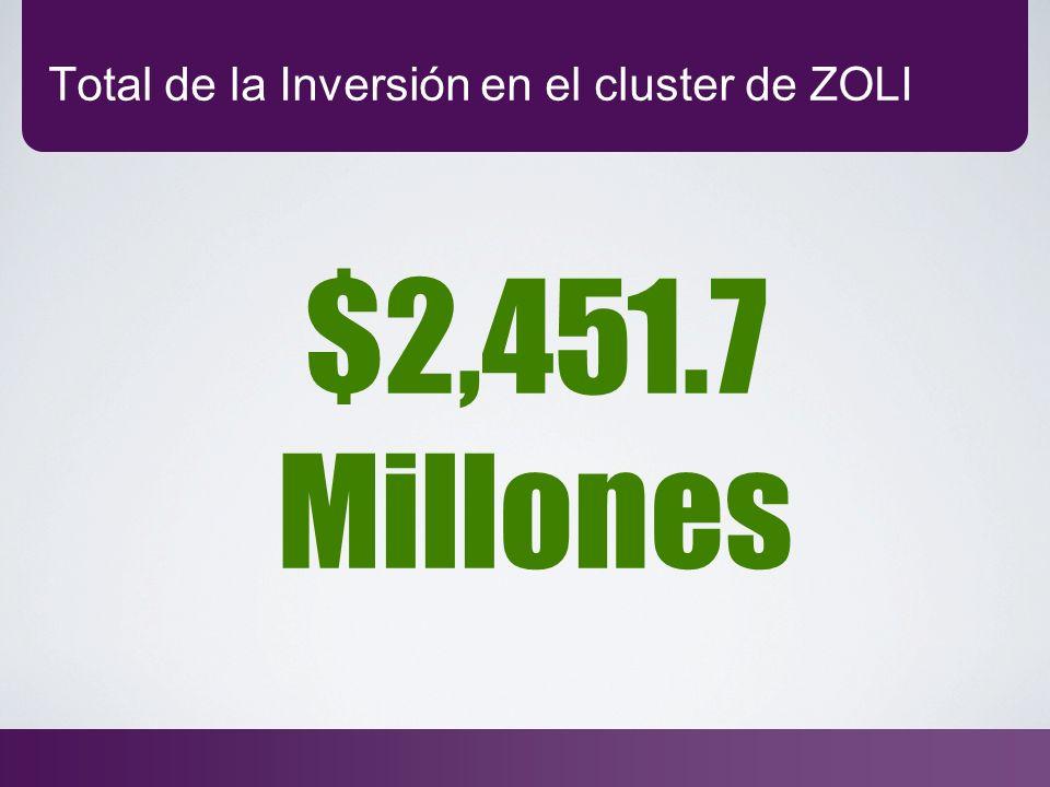 Total de la Inversión en el cluster de ZOLI