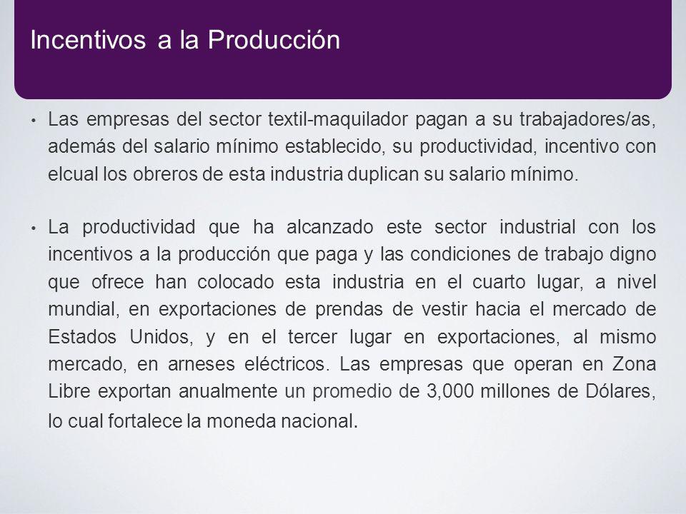 Incentivos a la Producción