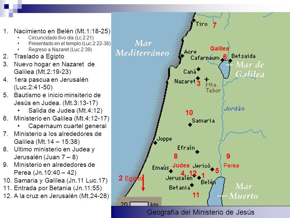 Geografía del Ministerio de Jesús