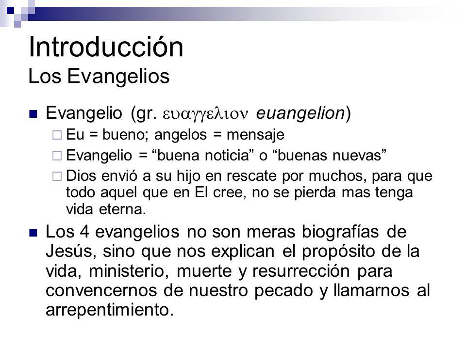 Introducción Los Evangelios