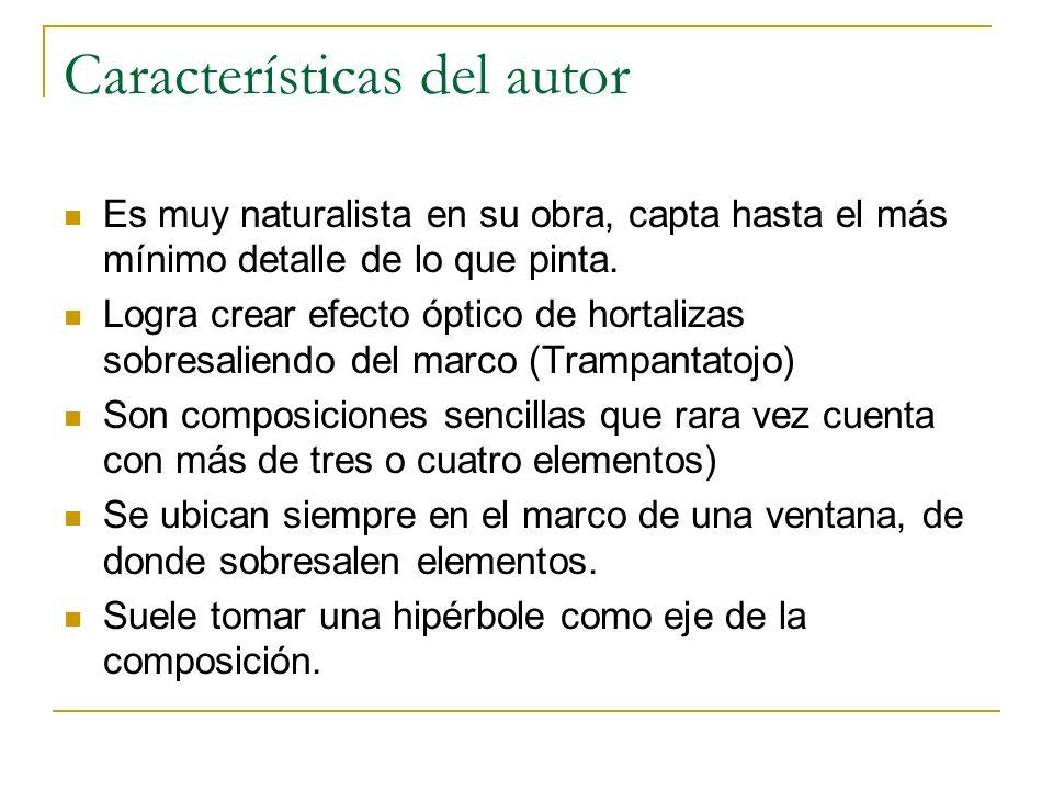 Características del autor