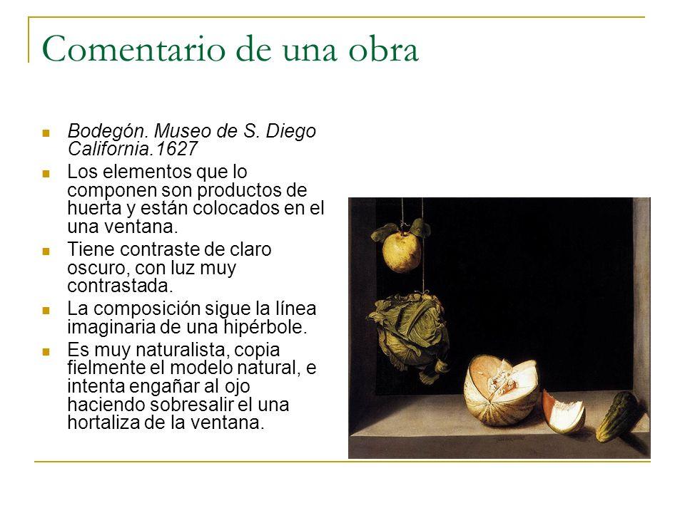 Comentario de una obra Bodegón. Museo de S. Diego California.1627