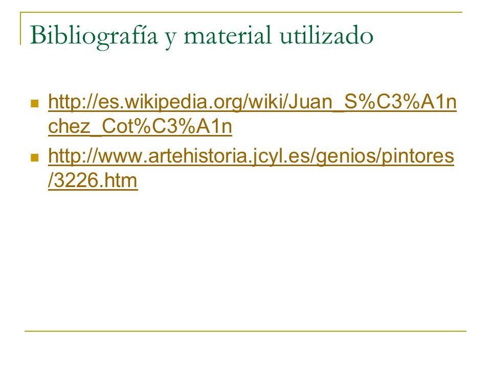 Bibliografía y material utilizado