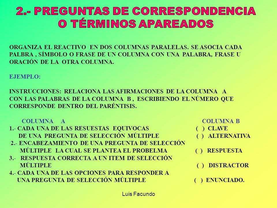 2.- PREGUNTAS DE CORRESPONDENCIA