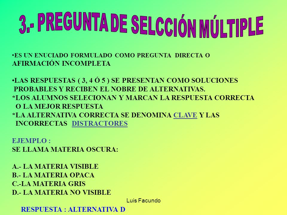3.- PREGUNTA DE SELCCIÓN MÚLTIPLE