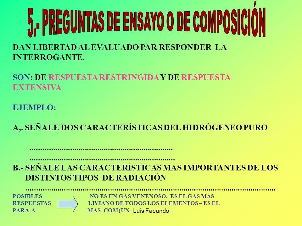 5.- PREGUNTAS DE ENSAYO O DE COMPOSICIÓN