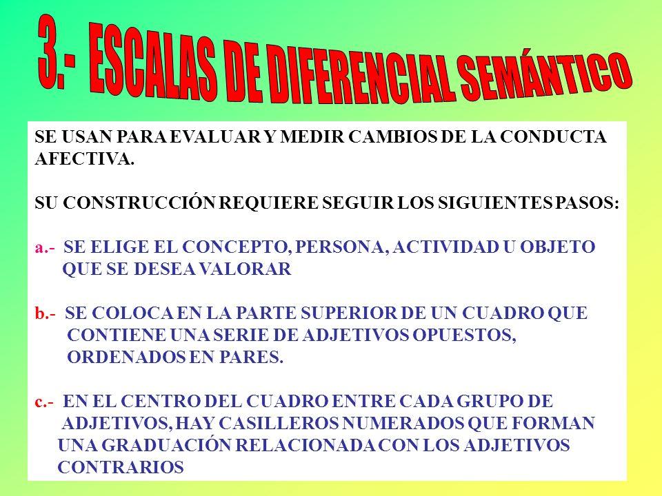 3.- ESCALAS DE DIFERENCIAL SEMÁNTICO