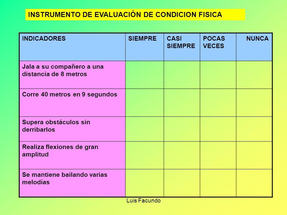 INSTRUMENTO DE EVALUACIÓN DE CONDICION FISICA