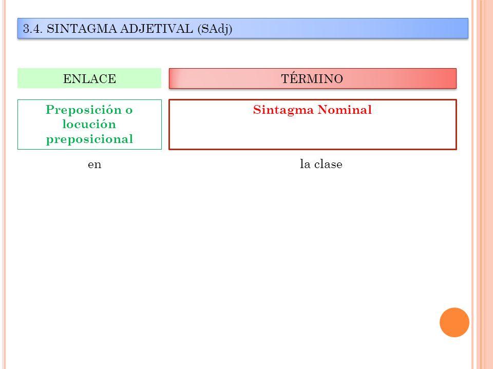 Preposición o locución preposicional