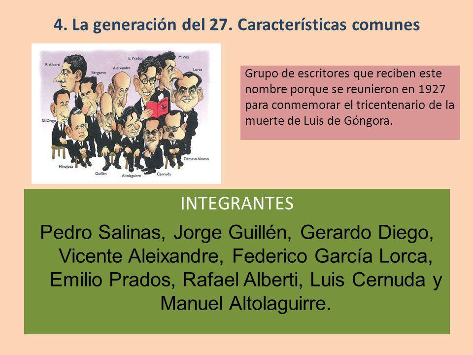 4. La generación del 27. Características comunes