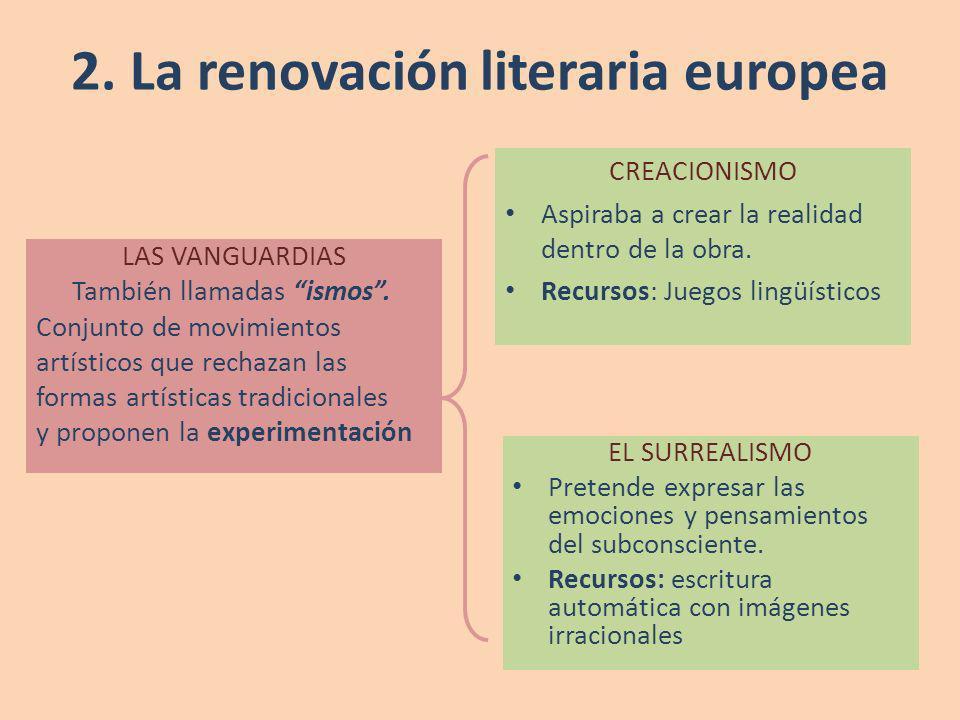 2. La renovación literaria europea