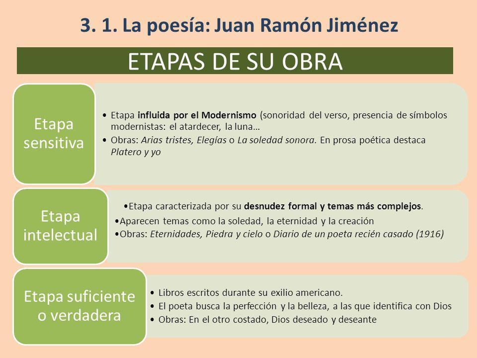 3. 1. La poesía: Juan Ramón Jiménez