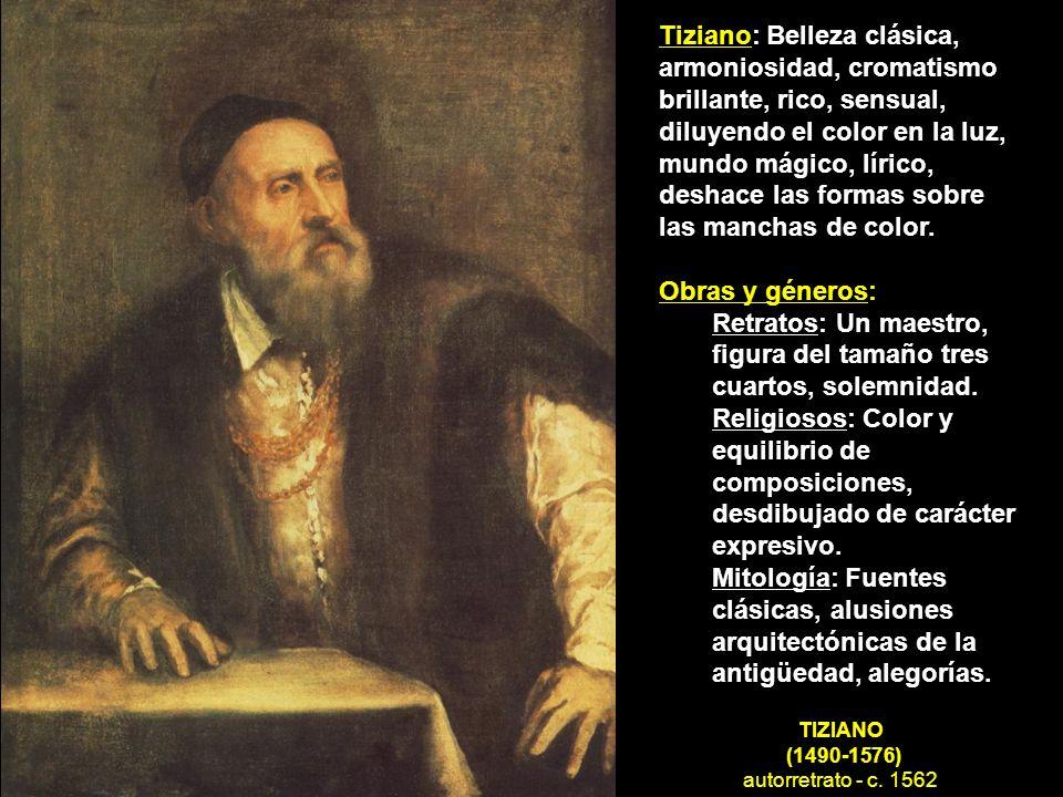 TIZIANO (1490-1576) autorretrato - c. 1562