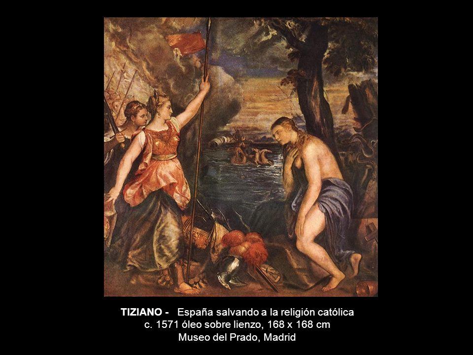 TIZIANO - España salvando a la religión católica c