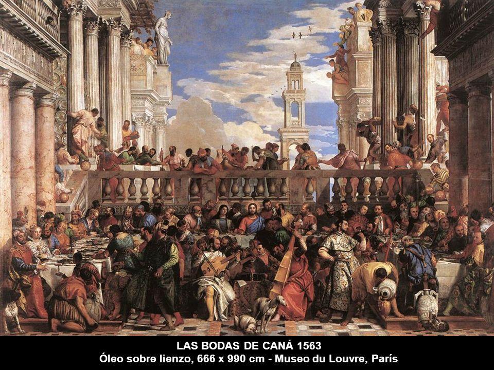 LAS BODAS DE CANÁ 1563 Óleo sobre lienzo, 666 x 990 cm - Museo du Louvre, París