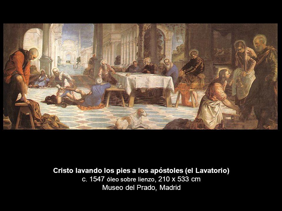 Cristo lavando los pies a los apóstoles (el Lavatorio) c
