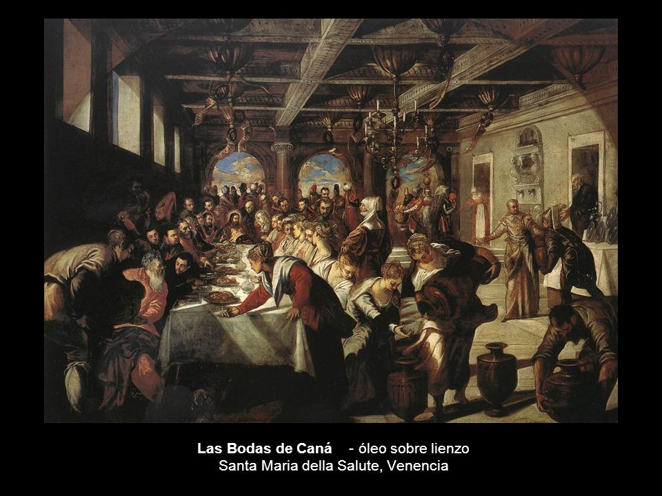 Las Bodas de Caná - óleo sobre lienzo Santa Maria della Salute, Venencia