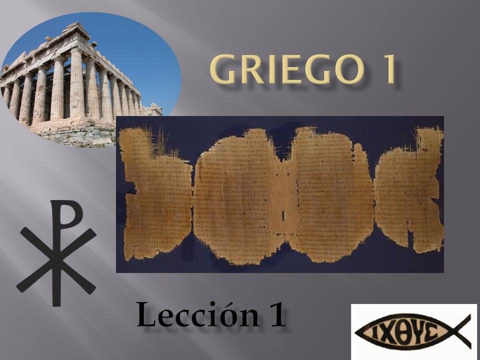 GriEgo 1 Lección 1