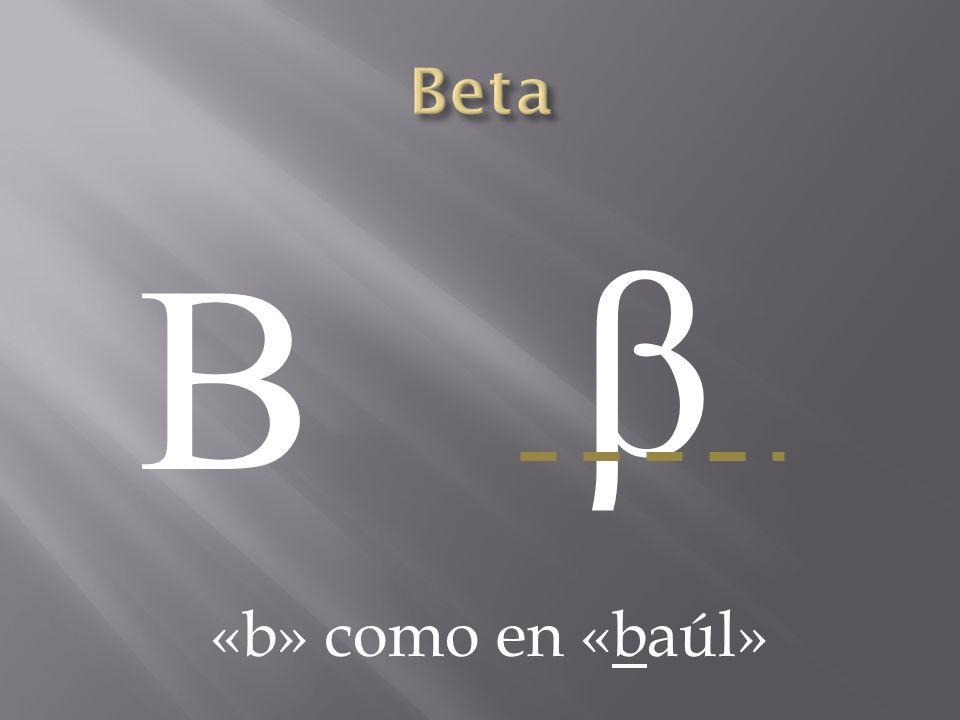 Beta β Β «b» como en «baúl»