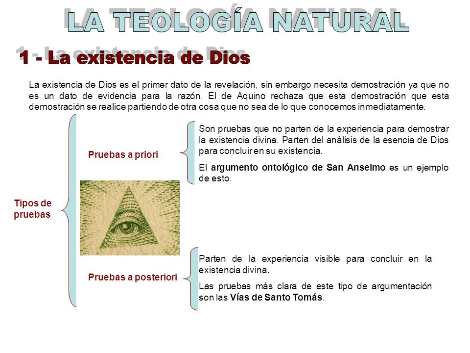LA TEOLOGÍA NATURAL 1 - La existencia de Dios