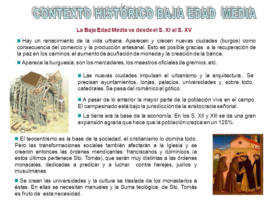 La Baja Edad Media va desde el S. XI al S. XV