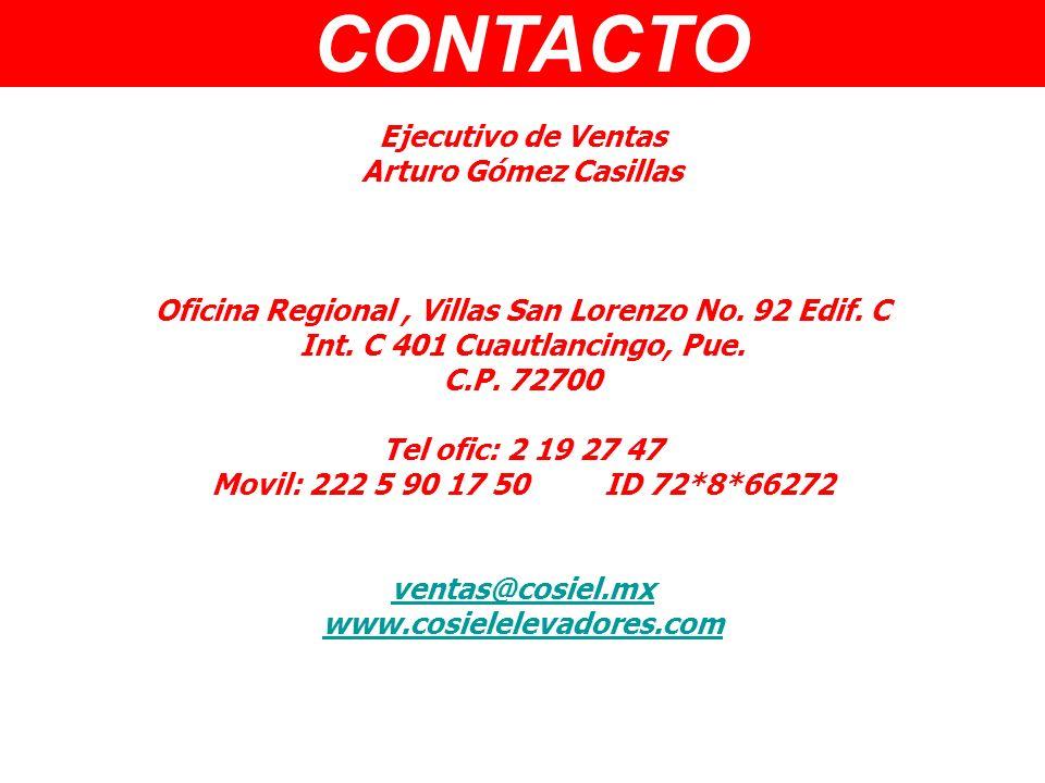 CONTACTO Ejecutivo de Ventas Arturo Gómez Casillas