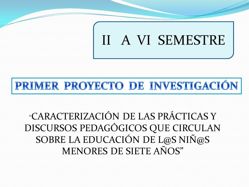 PRIMER PROYECTO DE INVESTIGACIÓN