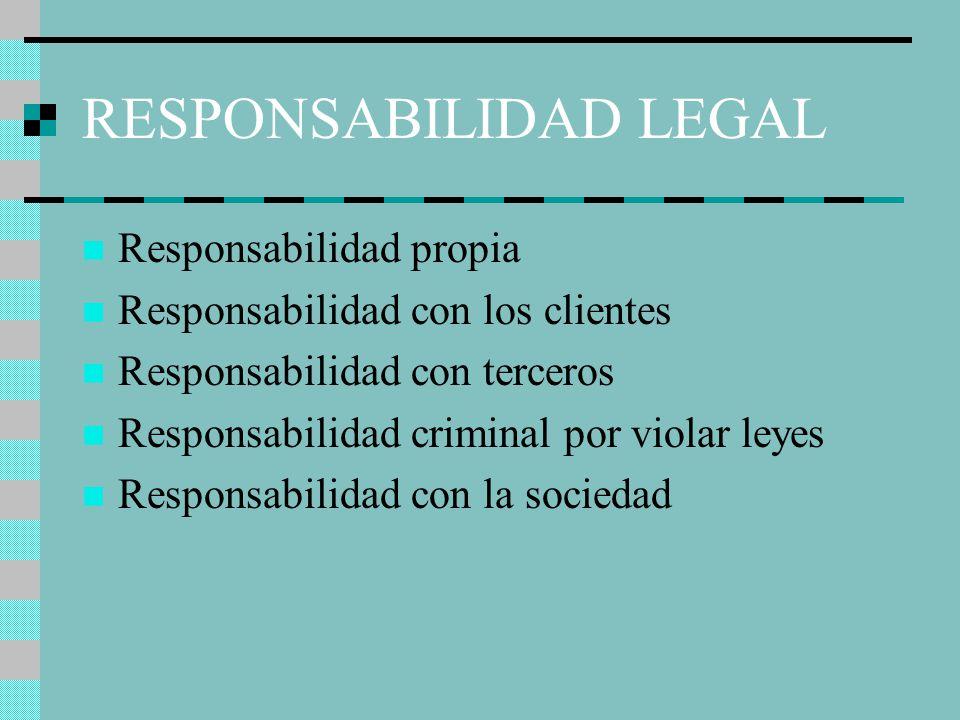 El papel del contador p blico en la economia ppt video for Responsabilidad legal