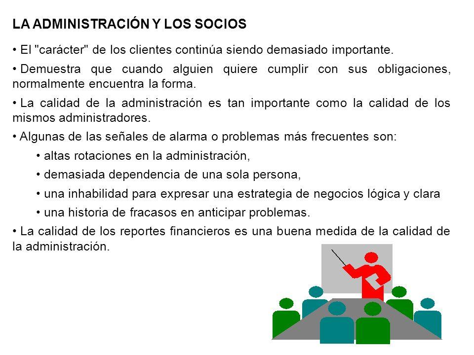 LA ADMINISTRACIÓN Y LOS SOCIOS