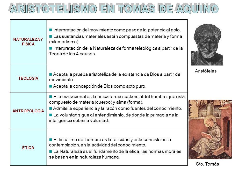 ARISTOTELISMO EN TOMAS DE AQUINO