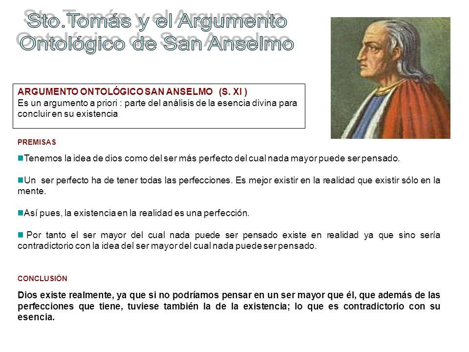 Sto.Tomás y el Argumento Ontológico de San Anselmo