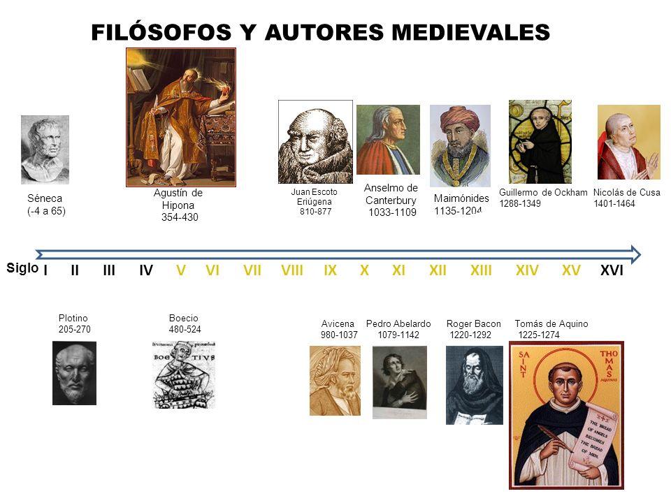 FILÓSOFOS Y AUTORES MEDIEVALES