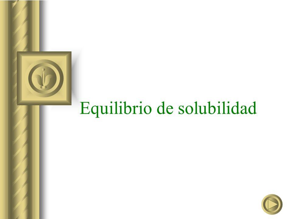 Equilibrio de solubilidad